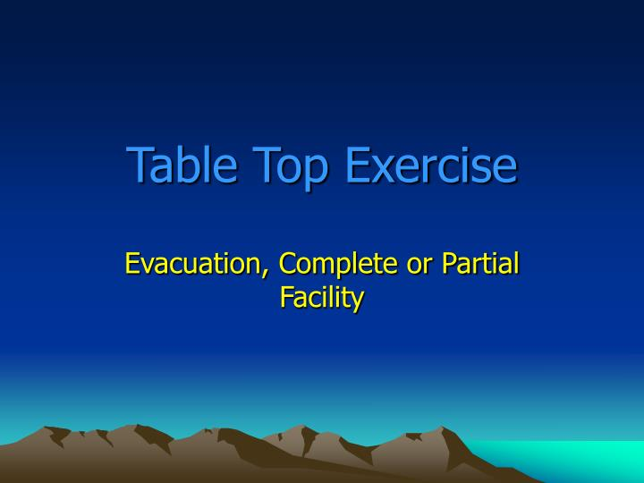 table top exercise n.