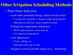 other irrigation scheduling methods1