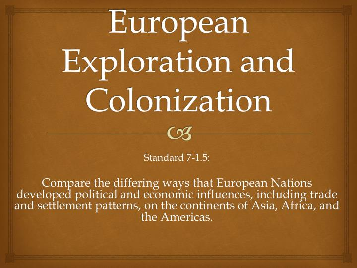 european exploration and colonization n.