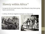 slavery within africa
