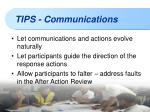 tips communications