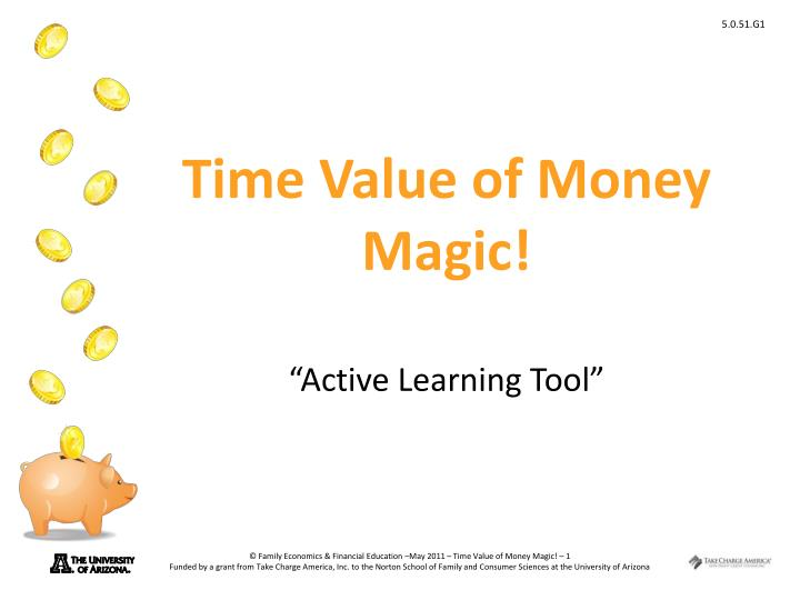 time value of money magic active learning tool n.