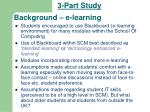 background e learning