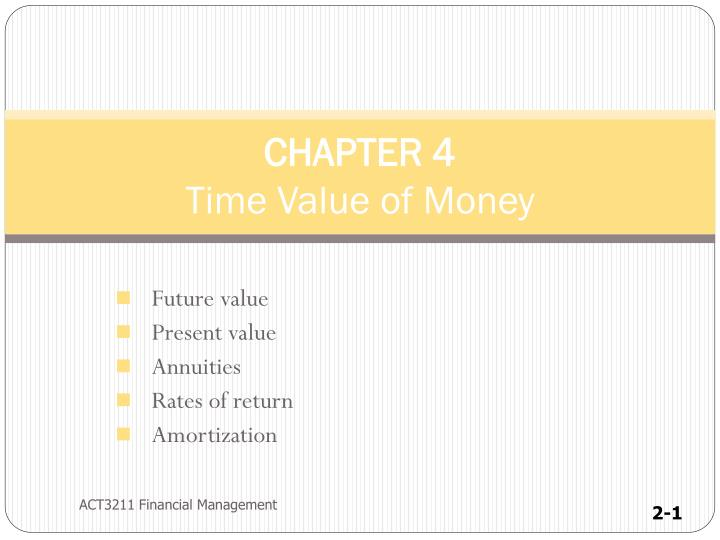 chapter 4 time value of money n.