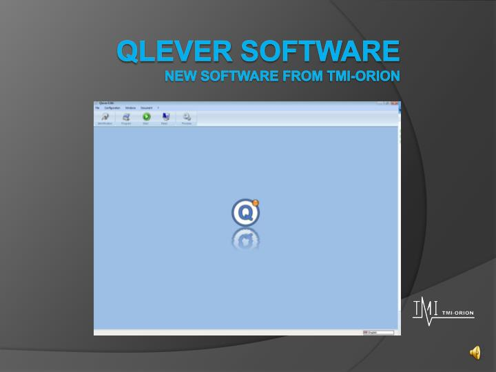 qlever software new software from tmi orion n.