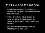 the law and the manna