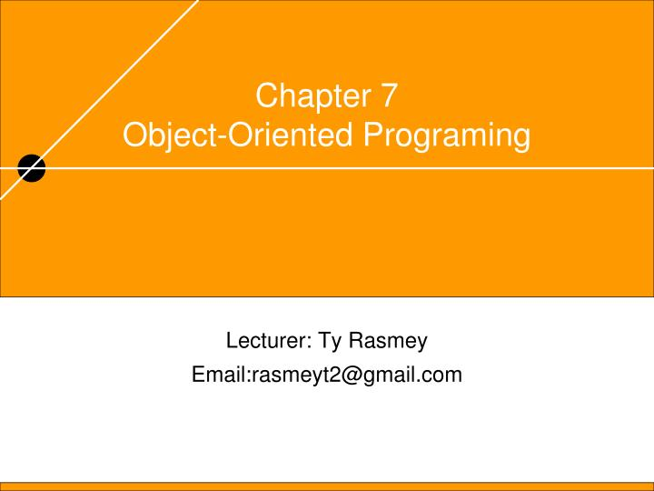 chapter 7 object oriented programing n.