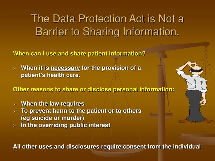 The Data Protection Act is Not a