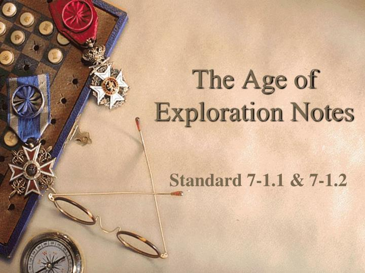 the age of exploration notes n.