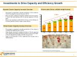 investments to drive capacity and efficiency growth