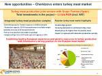 new opportunities cherkizovo enters turkey meat market