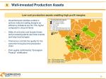 well invested production assets