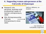 4 supporting women entrepreneurs at the university of glamorgan