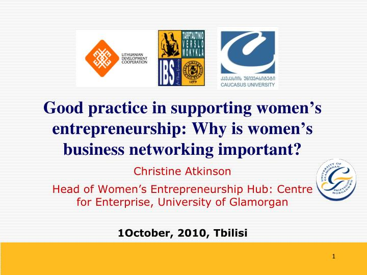 good practice in supporting women s entrepreneurship why is women s business networking important n.