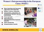 women s entrepreneurship in the european union weeu