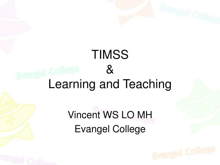 timss learning and teaching n.