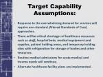 target capability assumptions1