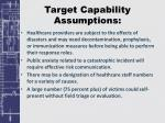 target capability assumptions2