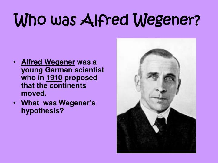 who was alfred wegener n.