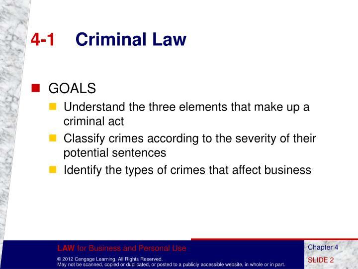 4 1 criminal law