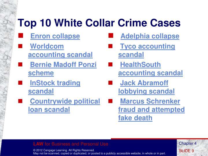Top 10 White Collar Crime Cases