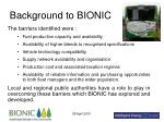background to bionic