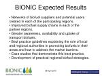 bionic expected results