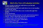 bird s eye view of evaluation activities