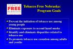 tobacco free nebraska program goals