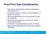 fixed price type considerations