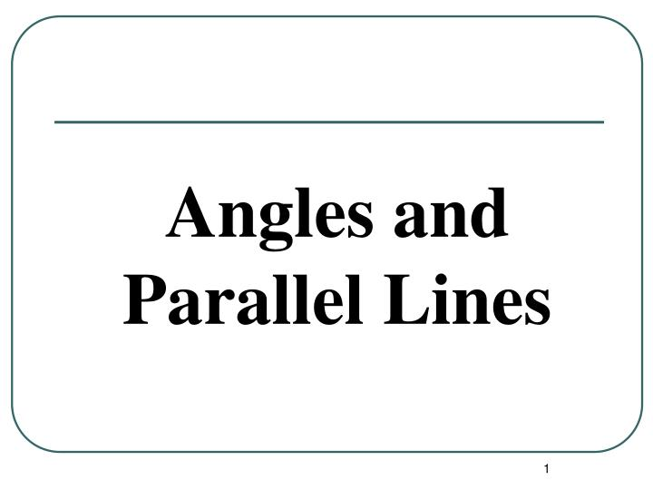 angles and parallel lines n.