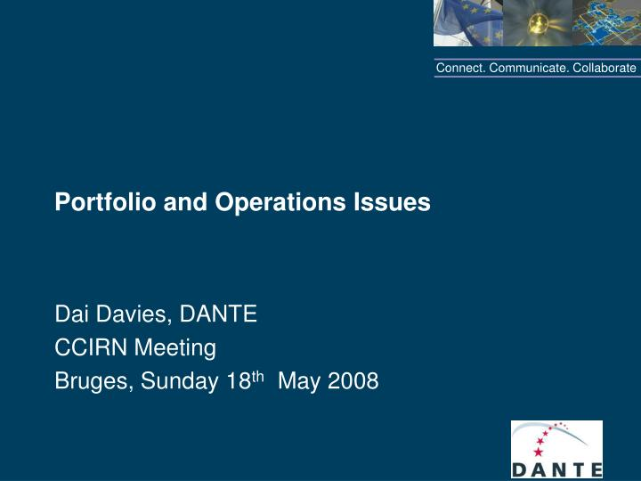 portfolio and operations issues n.