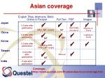 asian coverage