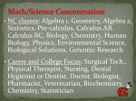 math science concentration