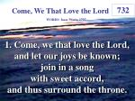 come we that love the lord 1