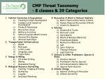 cmp threat taxonomy 8 classes 39 categories