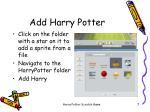 add harry potter