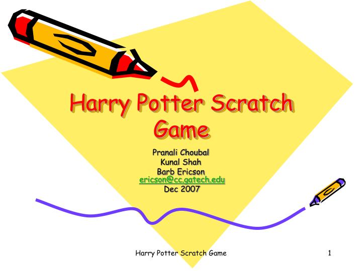 harry potter scratch game n.