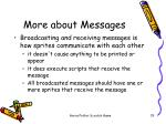 more about messages