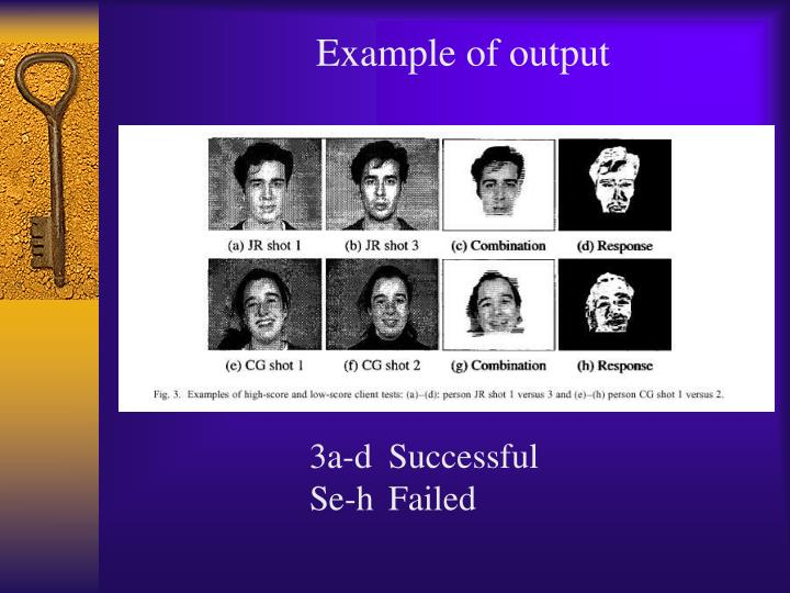 Example of output