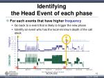 identifying the head event of each phase