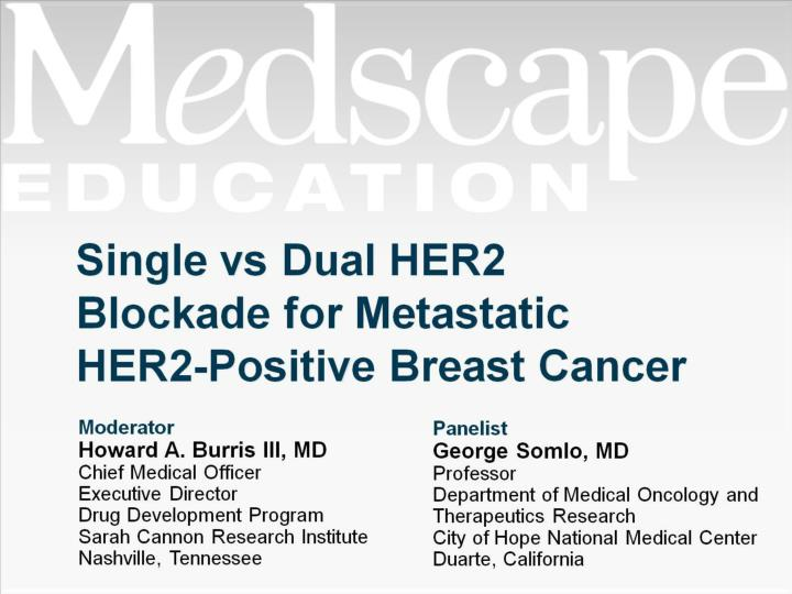 single vs dual her2 blockade for metastatic her2 positive breast cancer n.