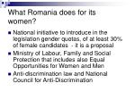 what romania does for its women