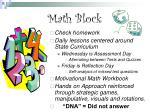 math block