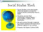 social studies block