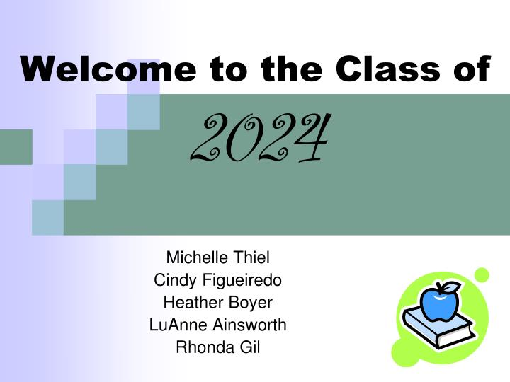 welcome to the class of 2024 n.