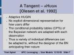 a tangent a h ugin olesen et al 1992