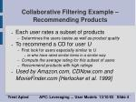 collaborative filtering example recommending products