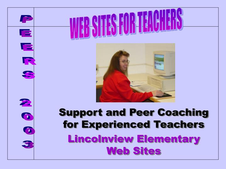 support and peer coaching for experienced teachers lincolnview elementary web sites n.