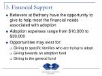5 financial support